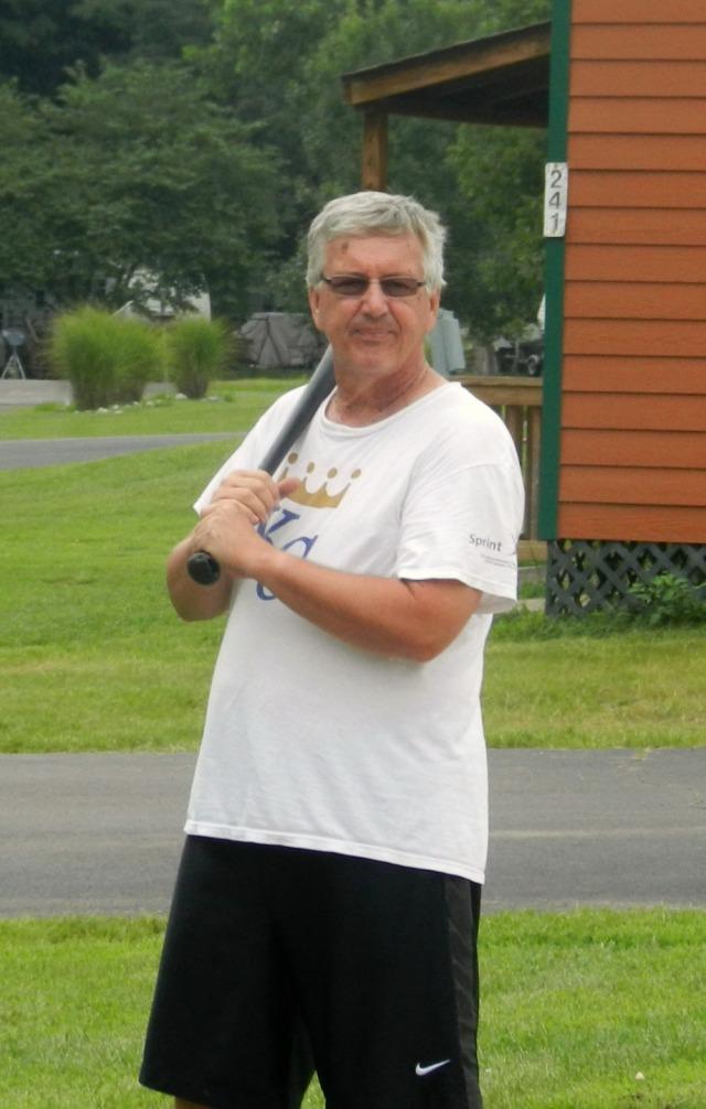 Greg at bat